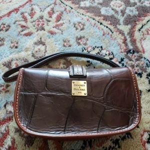 Vintage Dooney and Bourke Brown Leather Wristlet